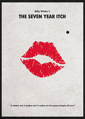 The Seven Year Itch Poster by Ayse Deniz
