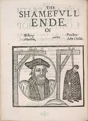 The Shameful End Of Bishop Atherton Poster by British Library