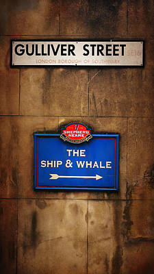 The Ship And Whale Poster by Mark Rogan