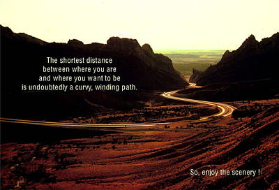 The Shortest Distance Poster by Mike Flynn