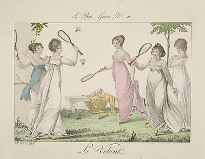 The Shuttlecock, Plate 11 From Le Bon Poster