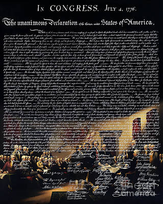 The Signing Of The United States Declaration Of Independence V2 Poster by Wingsdomain Art and Photography