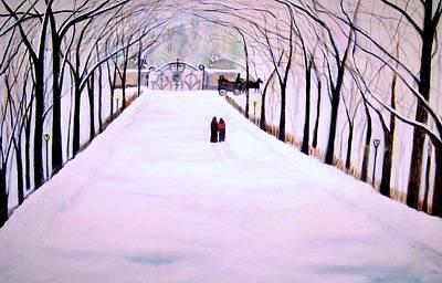 The Silent Snowfall Walk  Poster