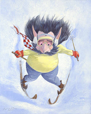 The Skier Poster