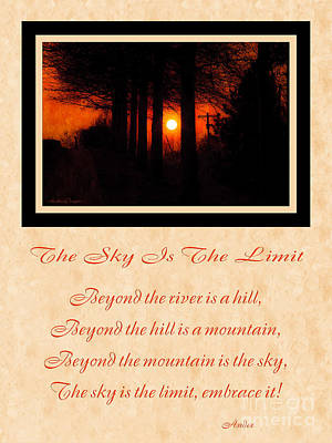 The Sky Is The Limit V 2 Poster by Andee Design