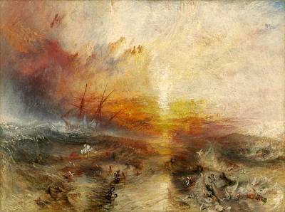 The Slave Ship Poster by JMW Turner