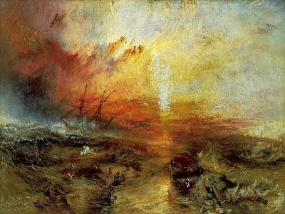 The Slave Ship Poster by J M W Turner