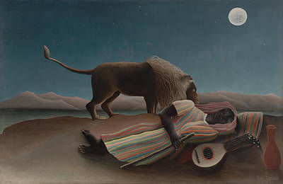 Poster featuring the painting The Sleeping Gypsy by Henri Rousseau