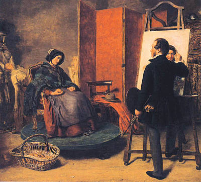The Sleeping Model Poster by William Powell Frith