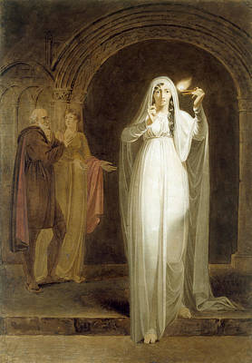 The Sleepwalking Scene, Act V, Scene I, From Macbeth, By William Shakespeare 1564-1616 Graphite, Wc Poster by Henry Pierce Bone