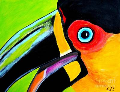 The Smiling Toucan Poster by Claudia Tuli