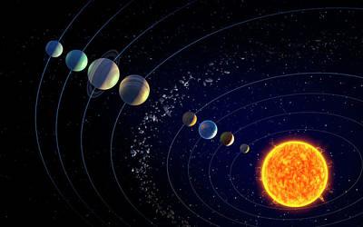 The Solar System Poster by Andrzej Wojcicki