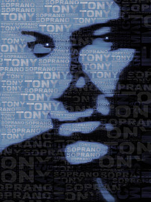 The Sopranos Tony Soprano Poster by Tony Rubino