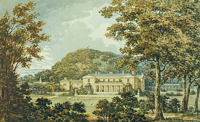 The South Front With East Front Poster by Humphry Repton