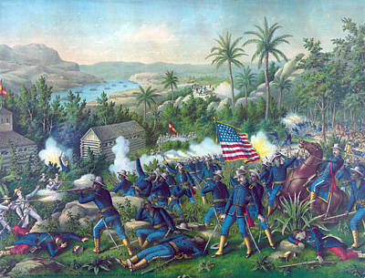 The Spanish American War. The Battle Poster