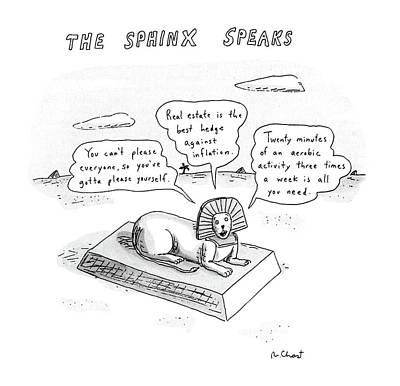 The Sphinx Speaks Poster by Roz Chast