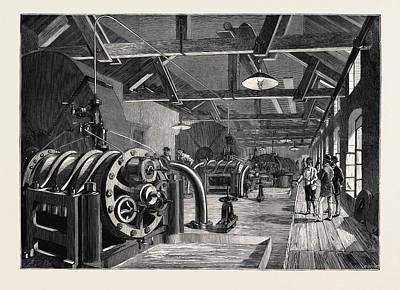 The St. Gothard Tunnel Air-compressing Machinery At Airolo Poster
