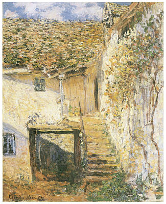 The Stairs Poster by Claude Monet