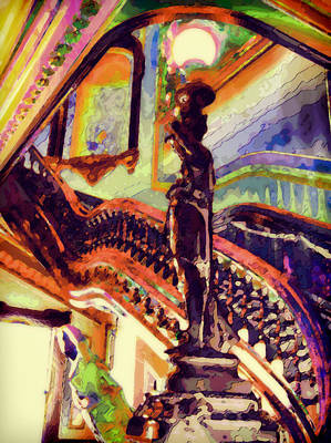 The Stairs I Poster by Devalyn Marshall