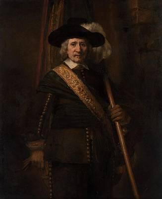 The Standard Bearer Poster by Rembrandt van Rijn