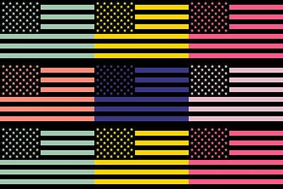 The Star Flag Poster by Tommytechno Sweden