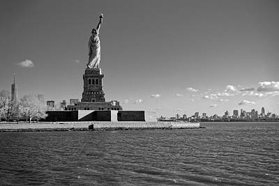 Statue Of Liberty And Freedom Tower Poster