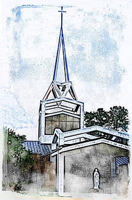 Poster featuring the digital art The Steeple by Davina Washington