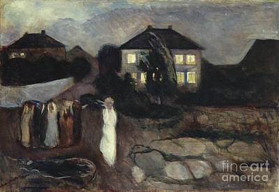The Storm Poster by Edvard Munch
