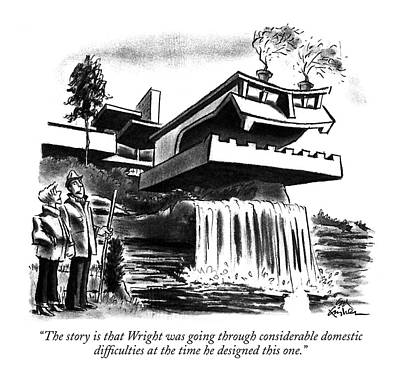 The Story Is That Wright Was Going Poster by Ed Fisher