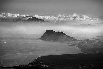 The Strait Of Gibraltar Spain Gibraltar And Africa Poster by Guido Montanes Castillo
