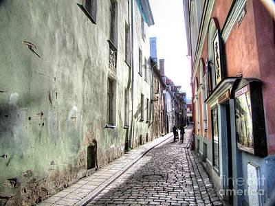 the streets of Tallinn Poster by Yury Bashkin
