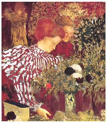 The Striped Blouse Poster by Edouard Vuillard