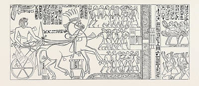 The Suez Canal Of Seti I, Pharaoh Of Egypt Poster