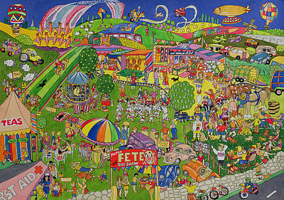 The Summer Fete, 1999 Wc On Paper Poster by Tony Todd