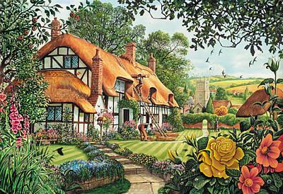 The Summer Thatchers Poster by Steve Crisp