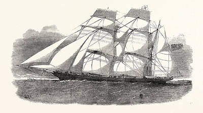 The Sunderland Clipper Barque Flying Dragon 1854 Poster by English School