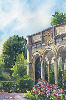 Poster featuring the painting The Sundial by Susan Herbst