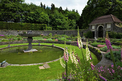 The Sunken Garden With Circular Poster by Panoramic Images