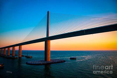 The Sunshine Under The Sunshine Skyway Bridge Poster