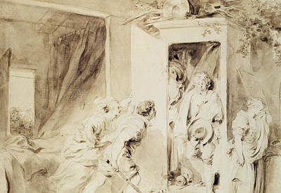 The Surprised Lover Poster by Jean-Honore Fragonard