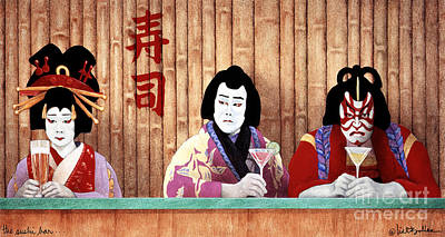 The Sushi Bar... Poster by Will Bullas