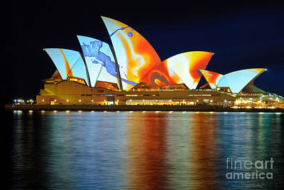 The Sydney Opera House In Vivid Colour Poster