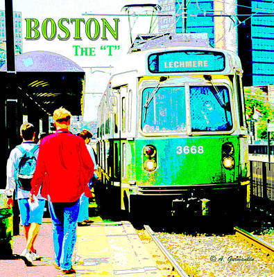 The T Trolley Boston Massachusetts Poster