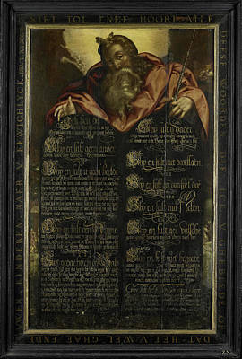 The Tablets Of The Law Of The Ten Commandments Poster