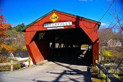 The Taftsville Covered Bridge.  Poster