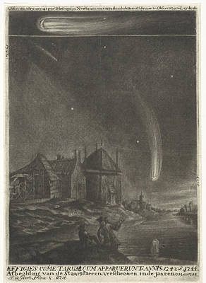 The Tail Stars Of 1742 And 1744, Print Maker Jan De Groot Poster by Jan De Groot