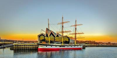 The Tall Ship Glenlee At Riverside Museum Glasgow Poster by Tylie Duff