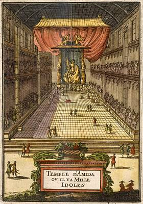 The Temple Of Amida, From Description Poster by Alain Manesson Mallet
