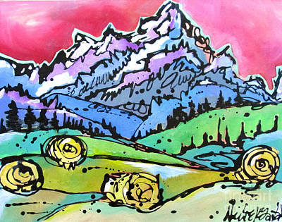 The Tetons From Walton Ranch Poster