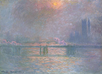 The Thames With Charing Cross Bridge Poster by Claude Monet
